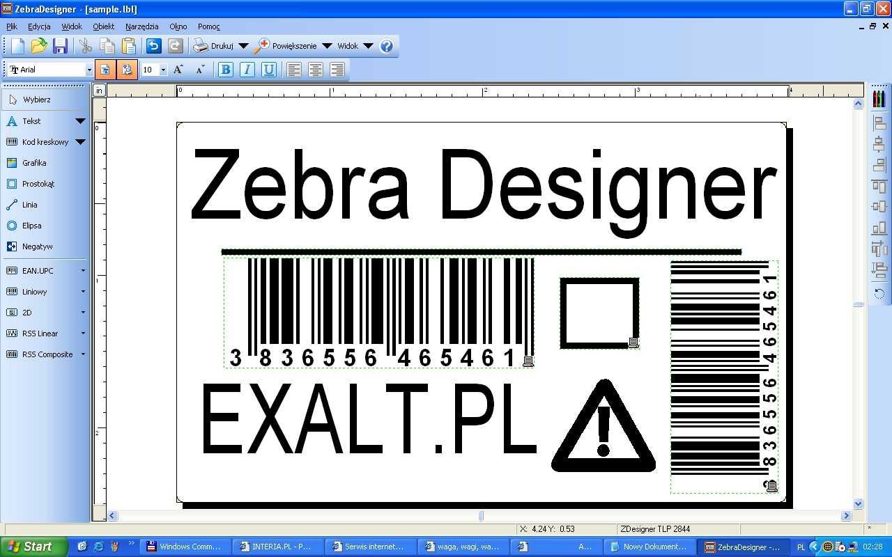 Oferta handlowa na program do edycji etykiet zebra - Zebre a dessiner ...