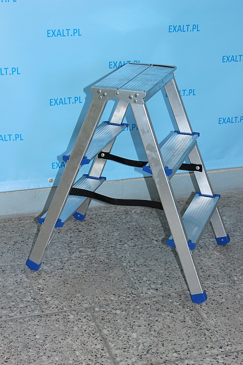 drabina aluminiowa trzystopniowa