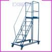 Pomost magazynowy na kołach WGP-250, liczba schodów: 9, wysokość pomostu (od gruntu do powierzchni podestu): 250cm