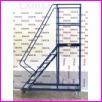 Pomost magazynowy na kołach WGP-299, liczba schodów: 12, wysokość: 299cm