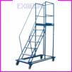 Pomost magazynowy na kołach WGP-300, liczba schodów: 11, wysokość pomostu (od gruntu do powierzchni podestu): 300cm