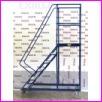 Pomost magazynowy na kołach WGP-69, liczba schodów: 2, wysokość: 69cm