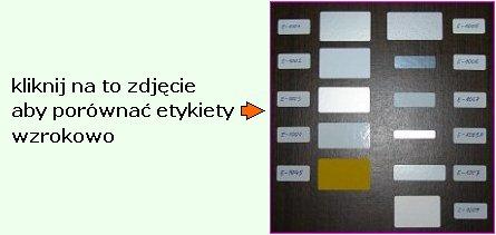 porównanie etykiet foliowych