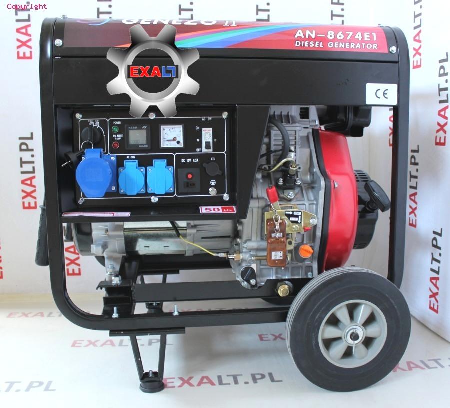 agregat diesel 7,5 kva 1-fazowy 230v