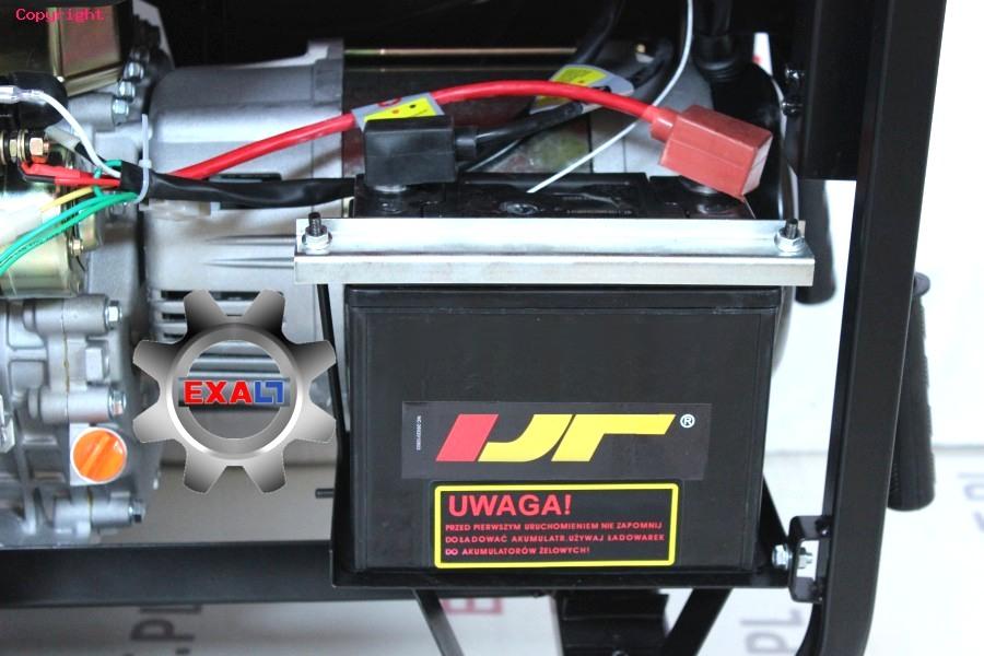agregat z rozrusznikiem elektrycznym na akumulator